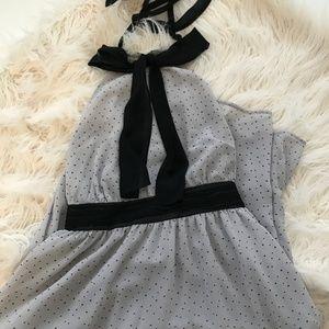 VIctoria's Secret Polka Dot Chiffon Halter Dress